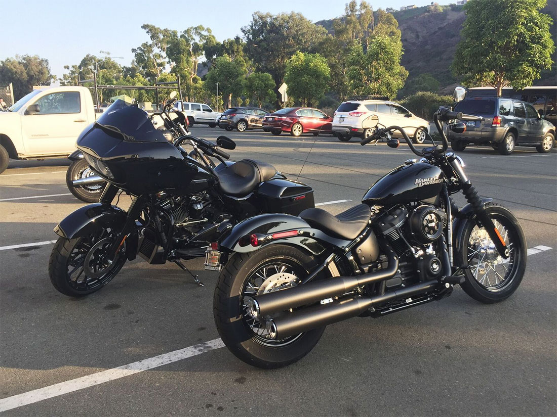 test ride the new 2018 harley davidson softail street bob. Black Bedroom Furniture Sets. Home Design Ideas